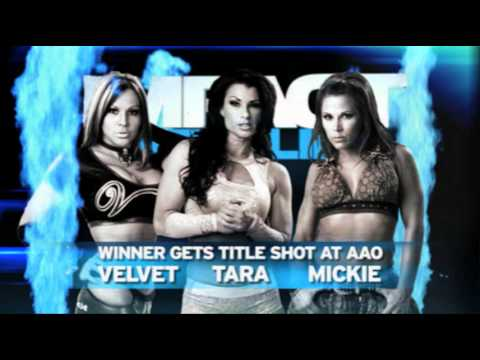 preview for TNA thursdays impact 1/26/12 Mickie James vs Velvet sky vs Tara for number 1 contender