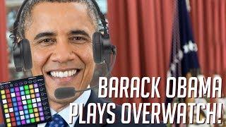 Barack Obama Plays OVERWATCH! Soundboard Pranks in Competitive!