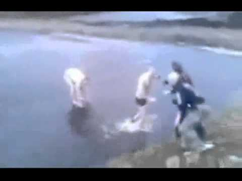 drunk russian jump in frozen lake