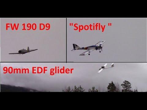 Focke Wulf 190 D9 - 90mm EDF Glider - Sonic .25 - SpotiFly - Lots of flying