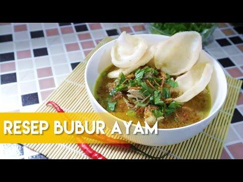 RESEP BUBUR AYAM ALA DAPUR ADIS ENAK NYA NAGIHIN :D (Indonesian Chicken Rice Porridge)
