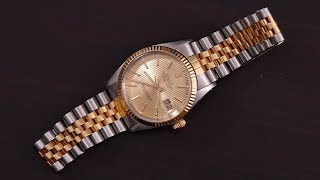 """Rolex Datejust 16013 Tapestry Dial """"American Psycho"""" Review"""