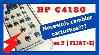 Cambiar cartuchos de la AIO HP Photosmart c4180