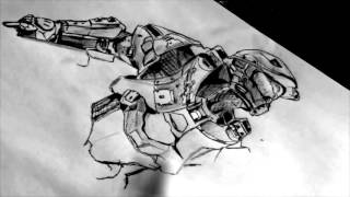 SPEED DRAWING #11 - Halo : master chief