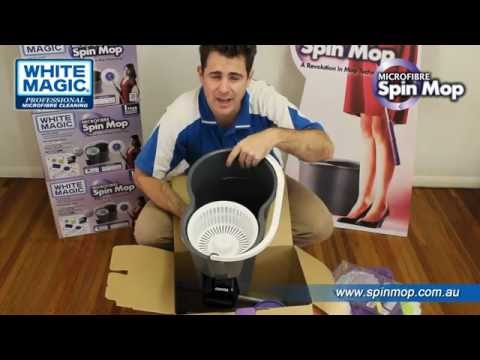 The New Spin Mop - White Magic Microfibre Spin Mop Instructional Video