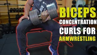CONCENTRATION BICEPS CURLS | ARM WRESTLING EXERCISES