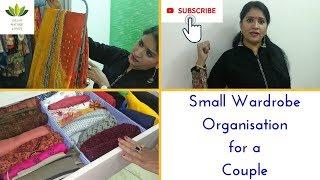 Small Wardrobe Organisation for a Couple || छोटी अलमारी में जोड़े के कपड़े कैसे लगाएं