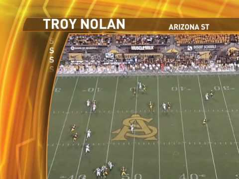 Troy Nolan ASU - S - 25 Career Games: 10 INTs & 5 TDs Video