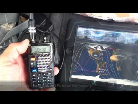 Listen to Amateur Satellite w/ Baofeng UV5R MFJ HamSatHD