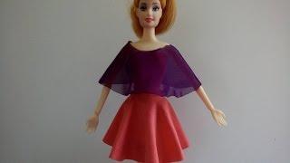 May váy xòe cực đơn giản cho búp bê
