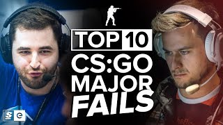 The Top 10 CS:GO Major Fails