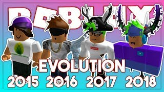 MY ROBLOX AVATAR EVOLUTION (2015-2018)