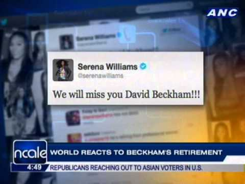 World reacts to Beckham's retirement