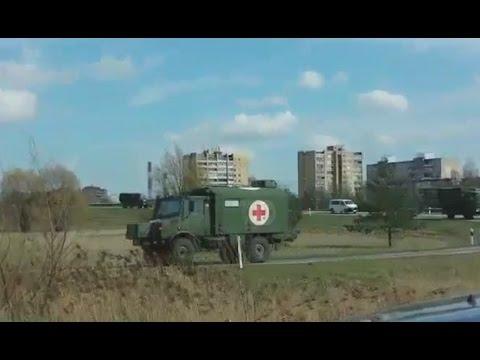 Skaitytojų video: karinė technika važiuoja Kauno aplinkeliu
