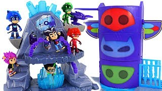 PJ Masks Super Moon Adventure Fortress appeared! Protect base from Werewolf Kids! #DuDuPopTOY
