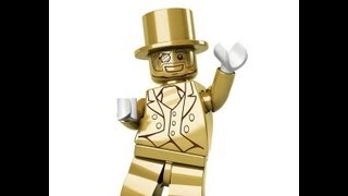 Unboxing and opening a sealed case of Lego Minifigures Series 10 looking for Mr. Gold