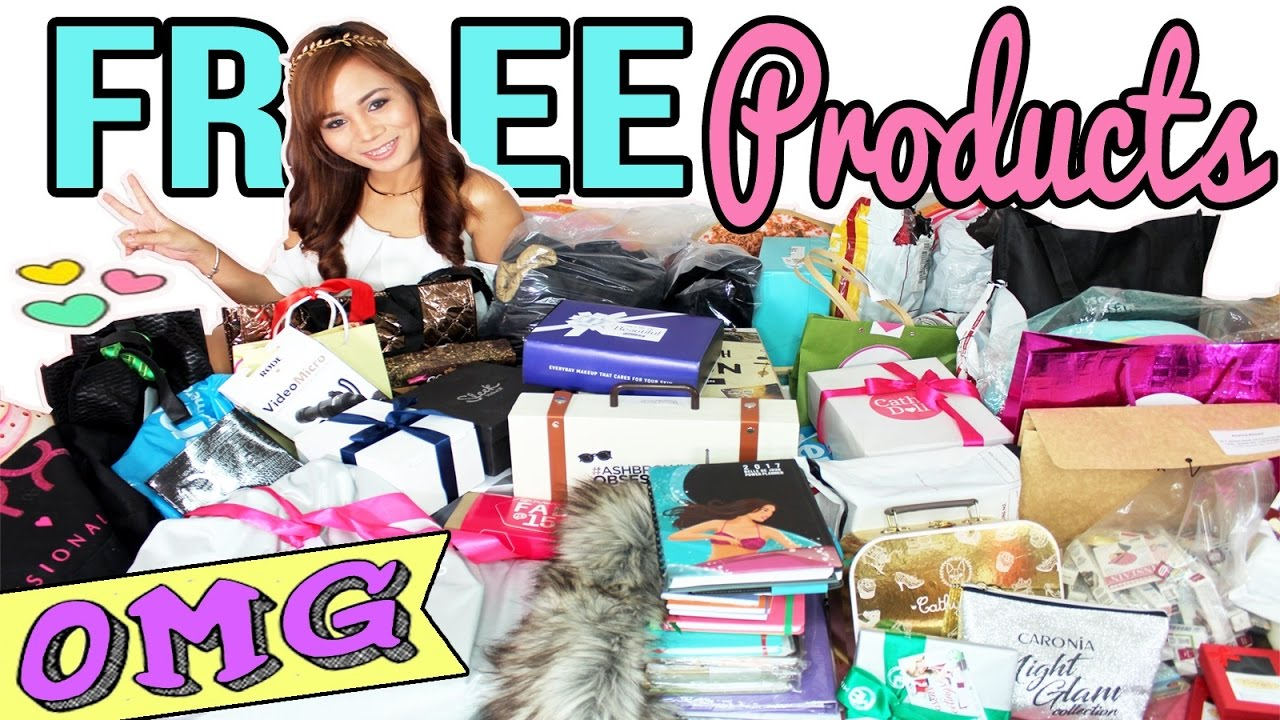 How Much FREE Products Do Bloggers Get? ♥ (MASSIVE FREE PRODUCTS HAUL) (English Video!)