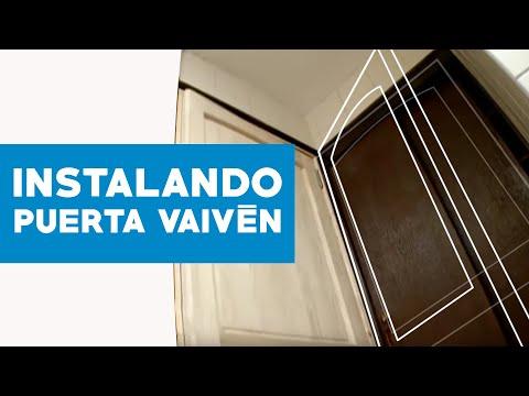 C mo instalar una puerta de vaiv n youtube for Como hacer una puerta corrediza casera