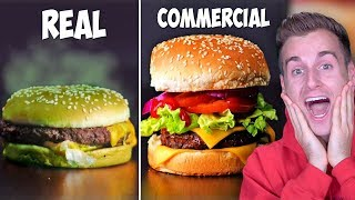 How Food Is In COMMERCIALS vs. REAL LIFE!