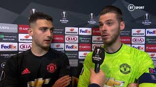 """Marcus said it was 100% a penalty"" de Gea and Dalot are content with a point against AZ Alkmaar"