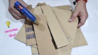Awesome Idea with Cardboard box||Best Reuse Idea| MissDebbieDIY