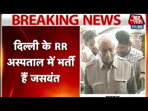 L K Advani visits Jaswant Singh at hospital