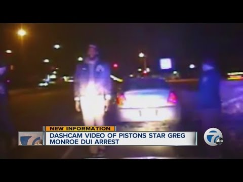 dashcam video of Pistons star Greg Monroe during DUI