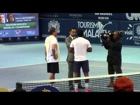 Leander Paes & Marcin Matkowski - 2014 Malaysian Open Doubles Champions - Meniscus Magazine
