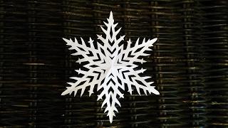 НАСТОЯЩЯЯ СНЕЖИНКА КАК ВЫРЕЗАТЬ СНЕЖИНКУ How to cut snowflakes