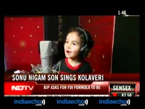 Sonu Nigam Son Sings Kolaveri - Indiaecho video