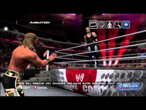 WWE Smackdown vs RAW 2011 Story Designer Animations