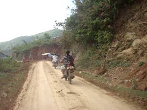 North Vietnam Motorbike Trips - Russian Minsk On Dirt Road.