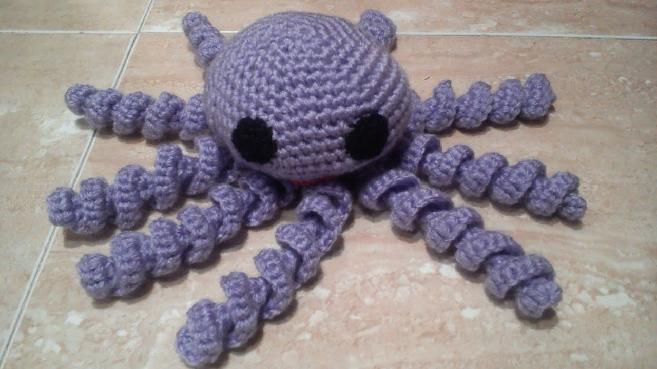 como hacer un pulpo a ganchillo o crochet en espa ol youtube