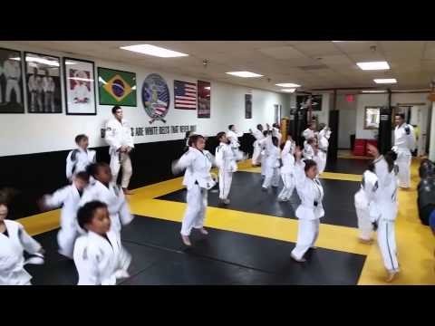 Kids BJJ warm up July 14