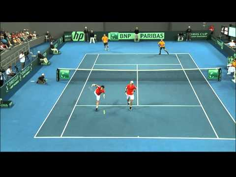 Doubles highlights - Australia v Korea Davis Cup 2012