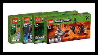LEGO Minecraft 2016 New Sets (Official Box Images)