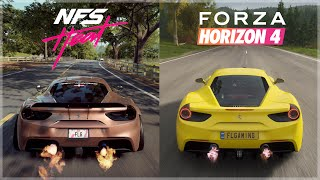 Need For Speed Heat vs Horizon 4 | Ferrari 488 GTB Sound & 4K Gameplay Comparison