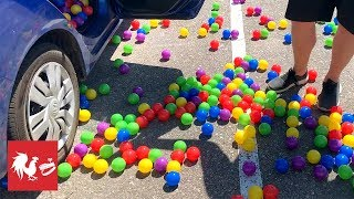 FILLING A CAR WITH 2,000 BALLS | RT Life