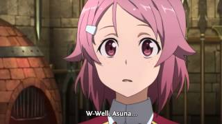 Sword Art Online - Lizabeth confesses to Kirito (HD)