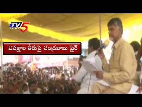 విపక్షాలపై మండిపడ్డ చంద్రబాబు..! | CM Chandrababu Fires On oppositions | TV5 News