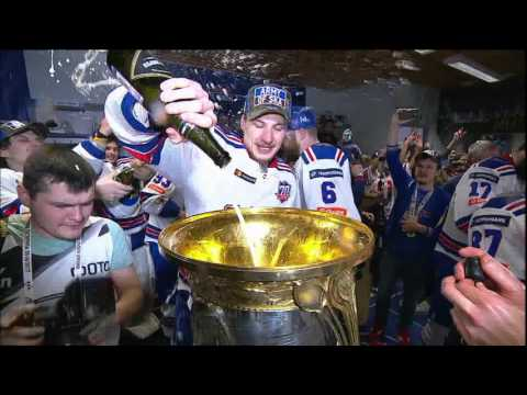 SKA celebrates their 2017 Gagarin Cup win