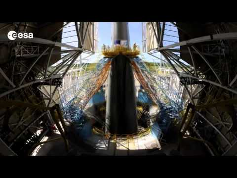 Timelapse film Soyuz flight VS06, with Gaia #ESA