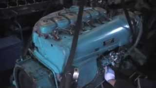 Start up GERMAN diesel engine DEUTZ BF6L913
