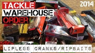 Tackle Warehouse Order- Lipless Cranks and Ripbaits (2014)