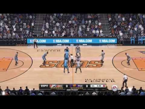 NBA 2015 - Oklahoma City Thunder vs Phoenix Suns - 1st Qrt - NBA LIVE 15 PS4 - HD