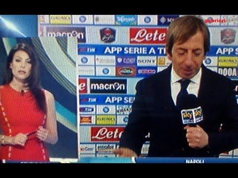 Napoli Inter 2 2 - Benitez non parla a Sky Sport, tutti in silenzio con Sky
