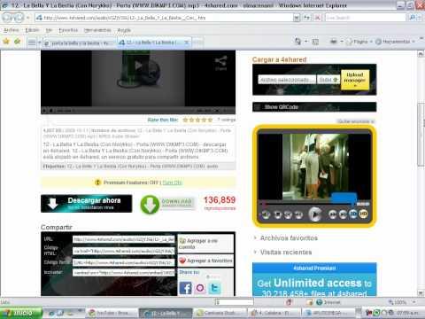 Como Bajar Musica Con 4shared video