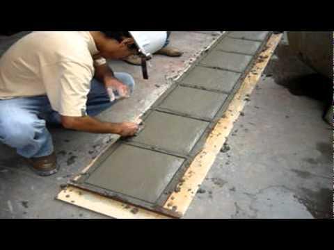 Losetas de concreto sencico trujillo 2010 youtube - Baldosas de hormigon para jardin ...