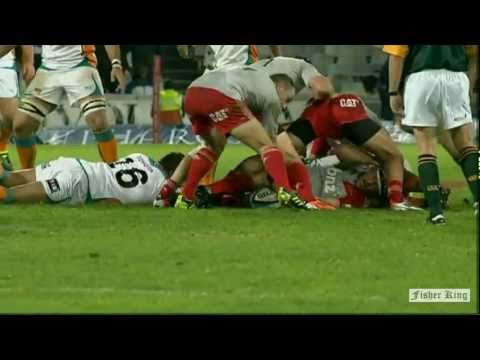 Ashley Johnson's try vs Crusaders - Super Rugby Video Highlights 2011 -
