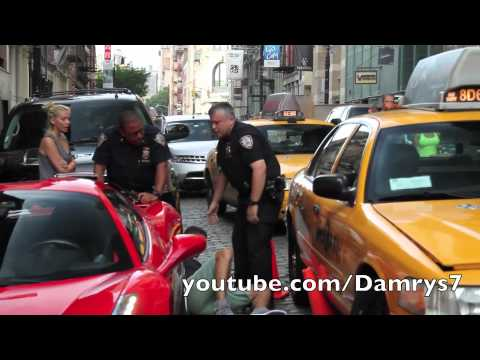 Ferrari 458 Spider Runs Over Cop video